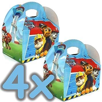 PAW PATROL 4 Cajas Regalo de cumpleaños para niños Fiesta ...