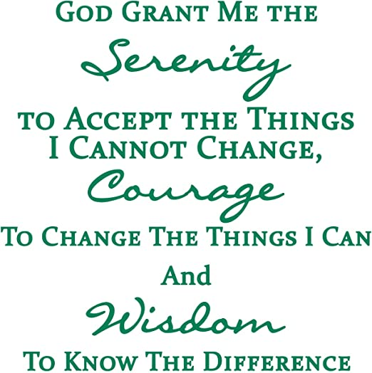 God Grant Me The Serenity To Accept The Things Prayer Vinyl Wall Art MATT