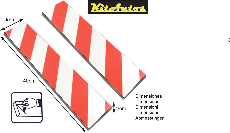 Protettori per parcheggio mod KITAUTOS PP409R,9 x 40 cm spessore 2 cm confezione da 2