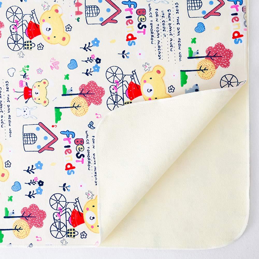 4 paquetes de estera port/átil lavable para ni/ños pa/ñal para beb/é impermeable s/ábanas de viaje para el hogar menstrual almohadilla Estera impermeable bebe,cambiador de bebe portatil 70x50cm