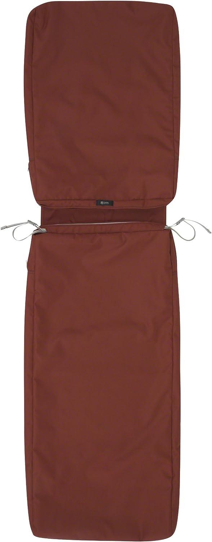 Classic Accessories Ravenna Patio Chaise Lounge Cushion Slip Cover, Spice, 72 x 21 x 3