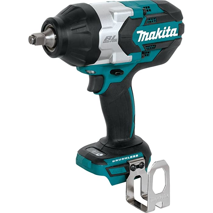 "Makita XWT08XVZ 18V LXT Lithium-Ion Brushless Cordless High Torque 1/2"" Sq. Drive Utility Impact Wrench"