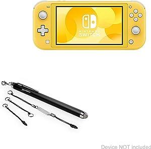 Nintendo Switch Lite Stylus Pen, BoxWave [EverTouch Capacitive Stylus] Fiber Tip Capacitive Stylus Pen for Nintendo Switch Lite - Jet Black