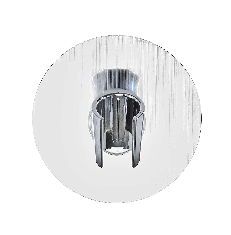 Wenko 22133100 Static-Loc Porte-Pomme de Douche Plastique couleur Argent 9.5 x 5 x 9.5 cm