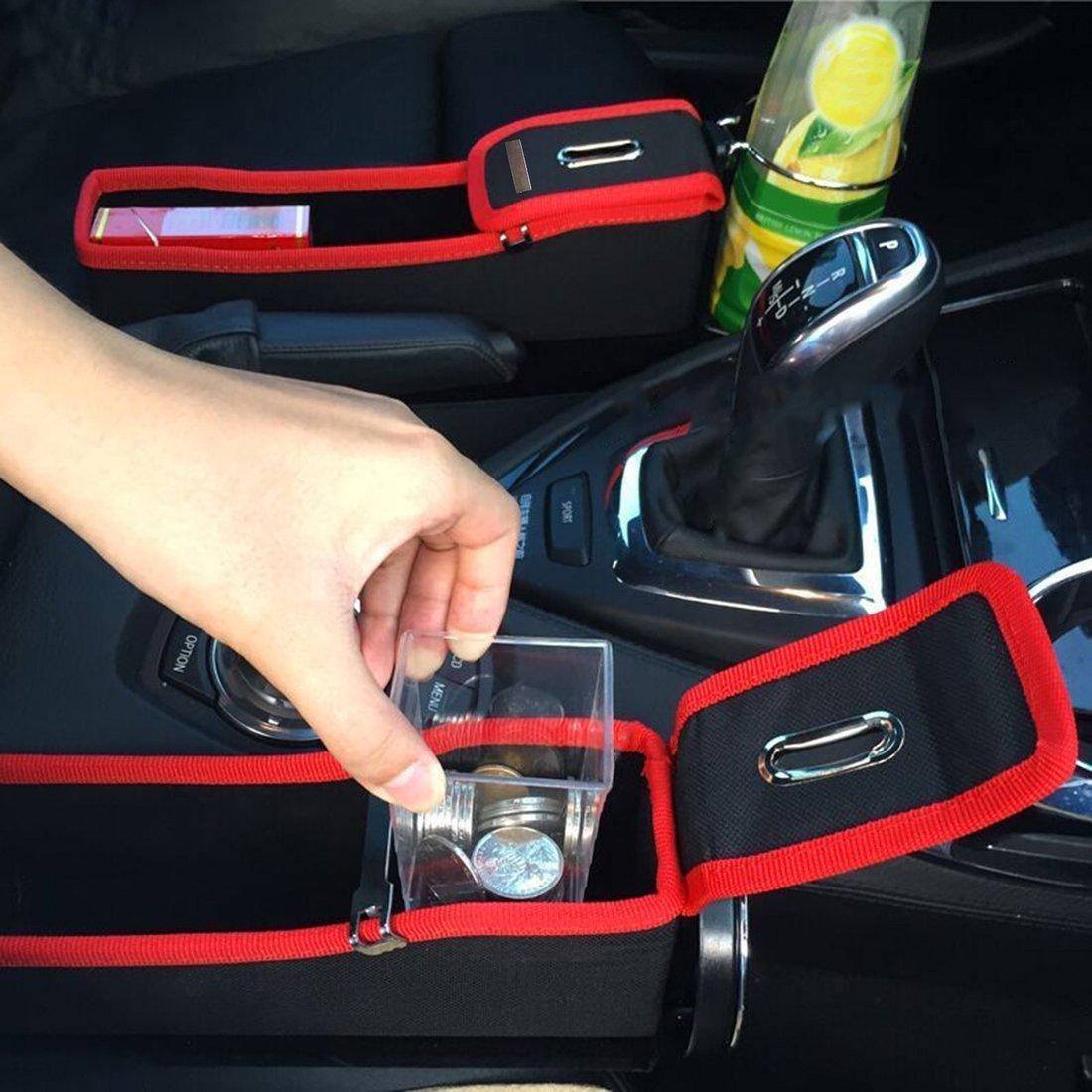 Organizzatore multifunzionale per seggiolino auto Gap Storage Cup Contenitore per bevande Colore: rosso e nero