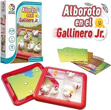 Alboroto en el gallinero – Smart Games, Juego Educativo para niños, Juegos de Mesa, puzle para niños, smartgames, Puzzles Infantiles, Juego de Viaje, Piezas deslizantes: Amazon.es: Juguetes y juegos