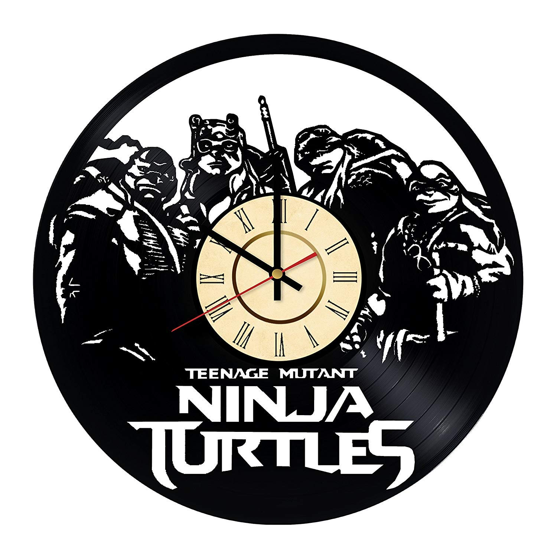 YLDJINGZ Teenage Mutant Ninja Turtle Vinyl Record Reloj de ...