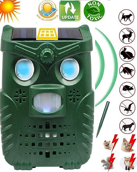 N3 ZELEK Repelente de Gatos DISEÑO MÁS NUEVO2020 Recargable por Solar Agregar por USB Repelente Ultrasónico de Plagas Gato Scarer Disuasor de Zorro Repelente de Jardín Cama de Gato Espantapájaros: Amazon.es: Jardín