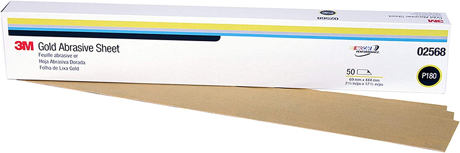 3M 32220 Green Corps 2-3//4 x 17-1//2 80D Grit Production Resin Sheet