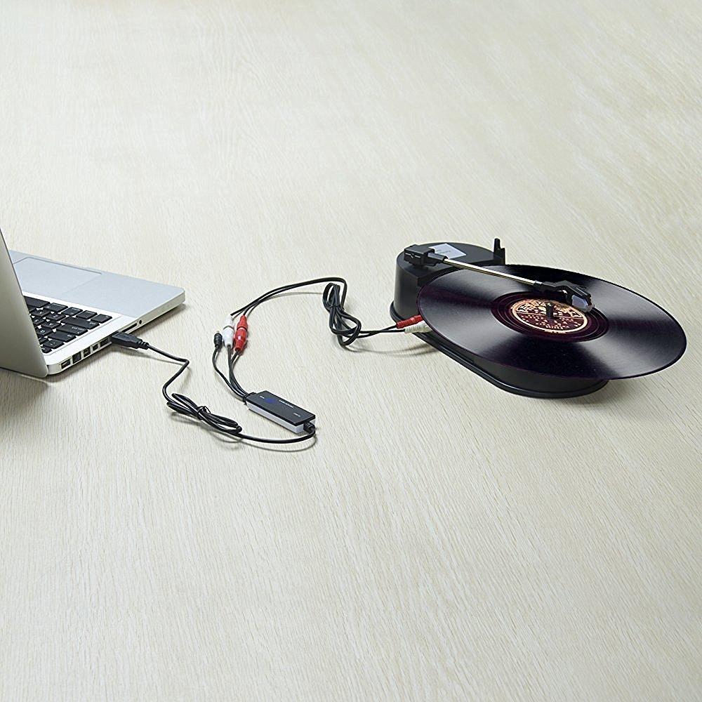 Kassette zu MP3 InVaFoCo USB Audio Grabber 3.5mm RCA L//R Audio Aufnahme Kabel Konverter Audio Digitalisieren f/ür Windows Mac Analog Audio zu Digital