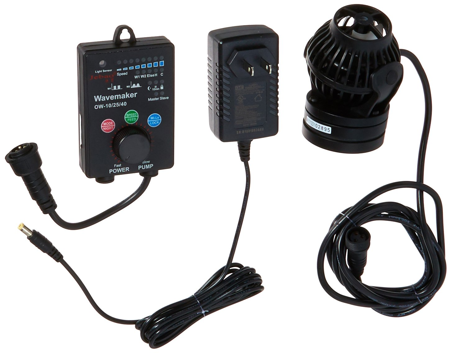 Jebao OW-25 Wavemaker 185-2245 GPH with Controller and Magnet Mount by Jebao