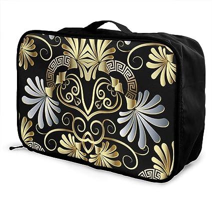 Yunshm Retro Indigenous Pattern Customized Trolley Handbag Waterproof Unisex Large Capacity For Business Travel Storage