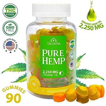 Natural Hemp Gummies - Ultra Volume 2250Mg - 90pcs - Premium Hemp Extract -  Relieve Stress, Pain