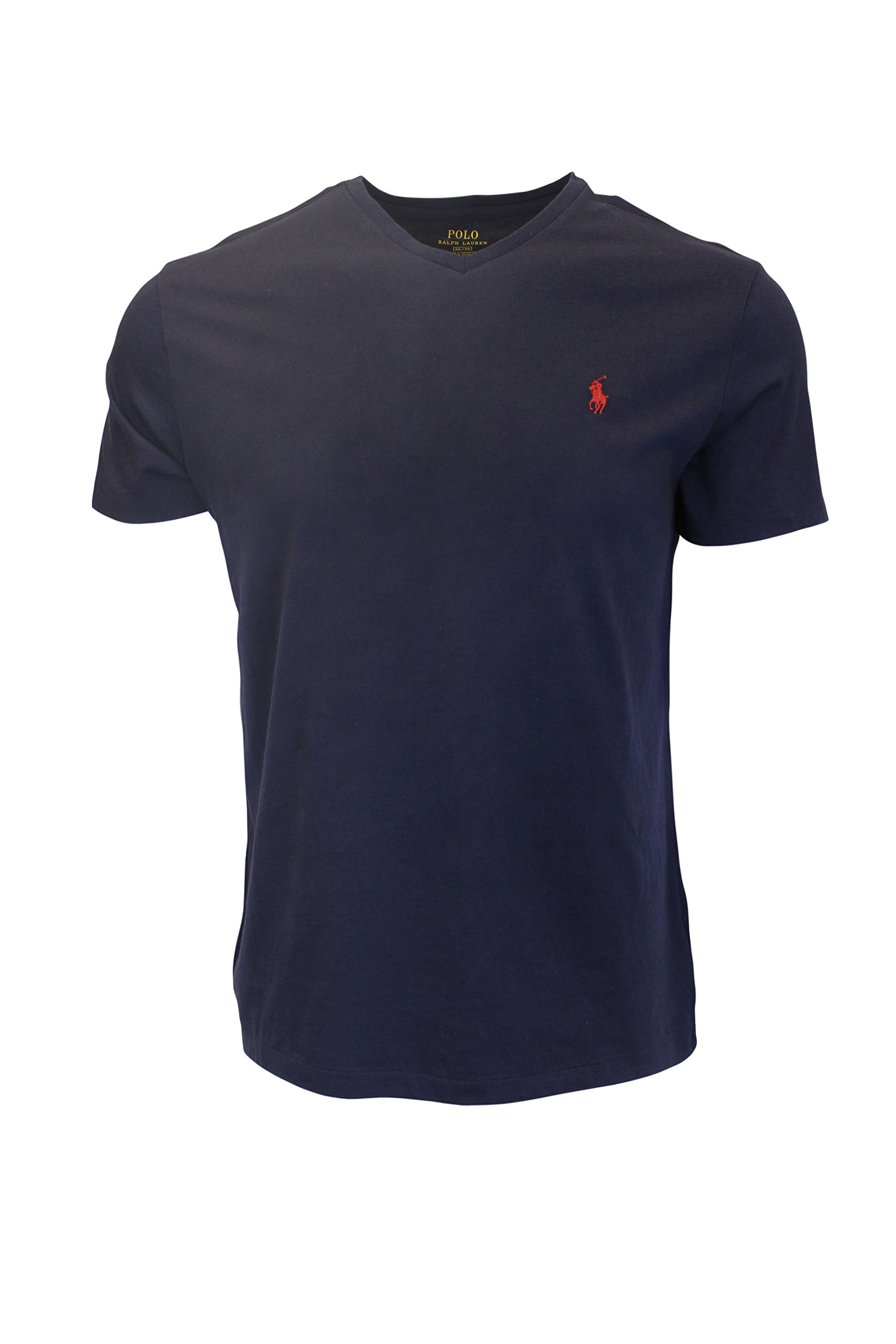 Polo Ralph Lauren Mens T-shirt V-neck 2016 model (XX-Large, Ink)
