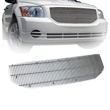 e-autogrilles aluminio pulido 4 mm vertical de repuesto Billet Grille para 07 - 12 dodge caliber (1pc) (32 - 0191): Amazon.es: Coche y moto