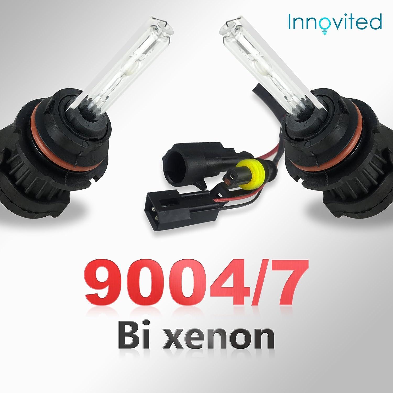 Ultra White XENTEC 9007//9004//HB5 Hi//Lo 6000K HID Xenon Bulb x 1 pair w//Hi-beam Halogen