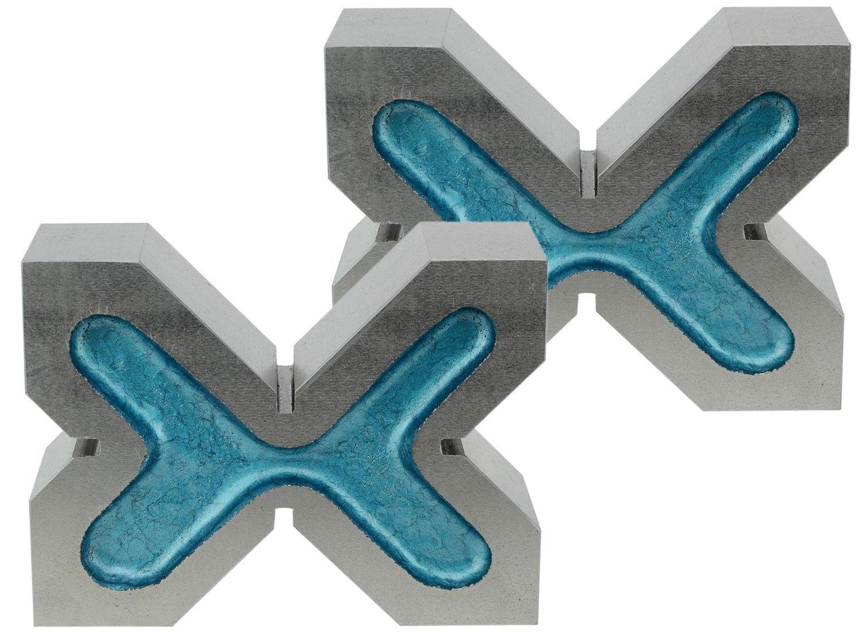 Paire de vé en fonte. tolérance : 50 µm, 4 entailles.