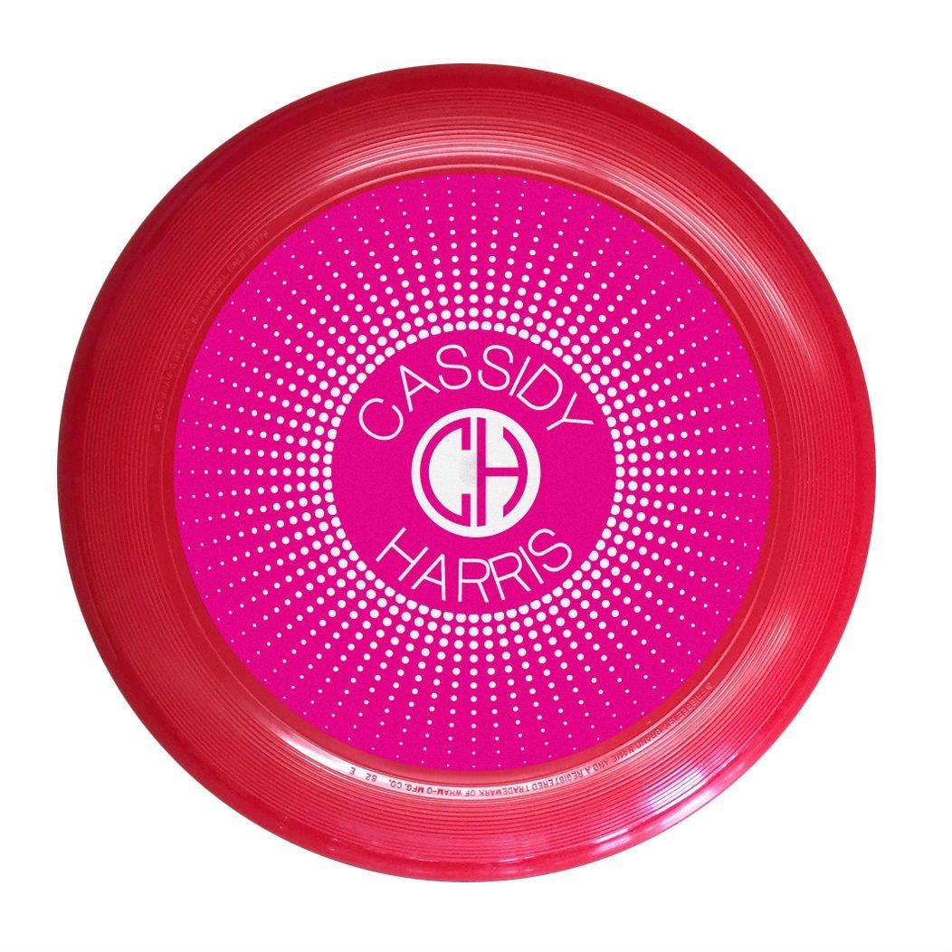wham-oカスタム名とイニシャルマゼンタモノグラム究極Frisbee Disc – 175 g、5色から選択 B07D2M7GKG  レッド