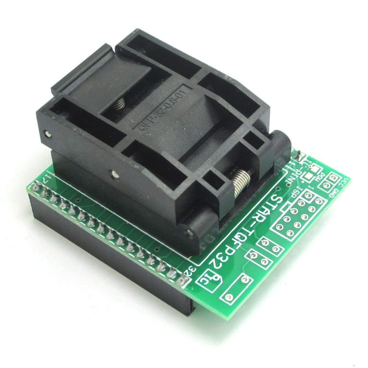 ARCELI Universal IC Adapter Socket LQFP TQFP QFP32 to DIP28 TQFP32 to DIP32 IC Adapters ATMEL AVR Chips 00197