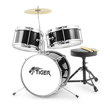 Tiger 3 Piece Junior Drum Kit - Black