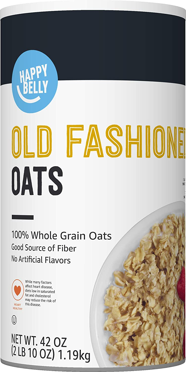 Amazon Brand - Happy Belly Old Fashioned Oats, 42 Ounce