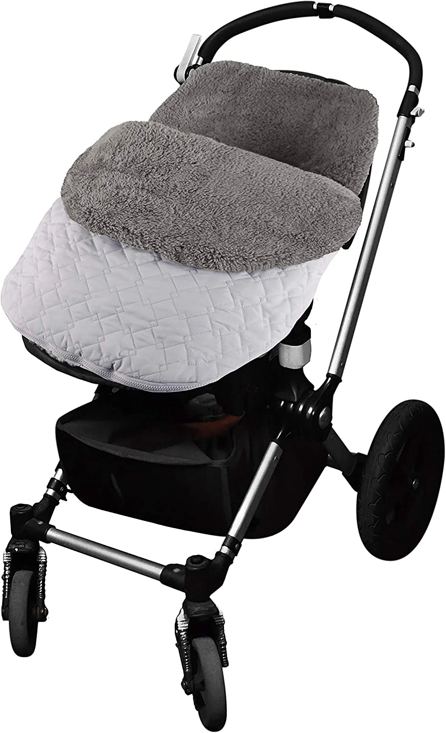 Tadpoles Quilted Stroller /& Car Seat Cover Light Grey Light Grey