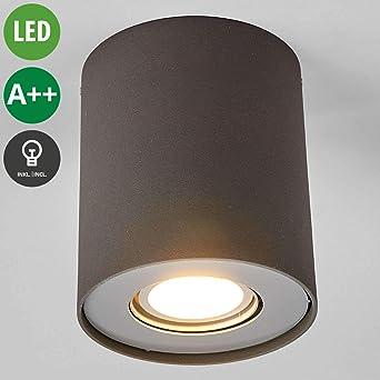 LED Deckenleuchte Giliano Deckenlampe Lampenwelt Eckig GU10 LED LED-Downlight