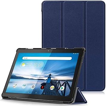 TTVie Funda para Lenovo Tab M10, Carcasa Ultra Delgado y Ligero con Cubierta de Soporte para Lenovo Tab M10 - Tablet de 25,6 cm (10.1