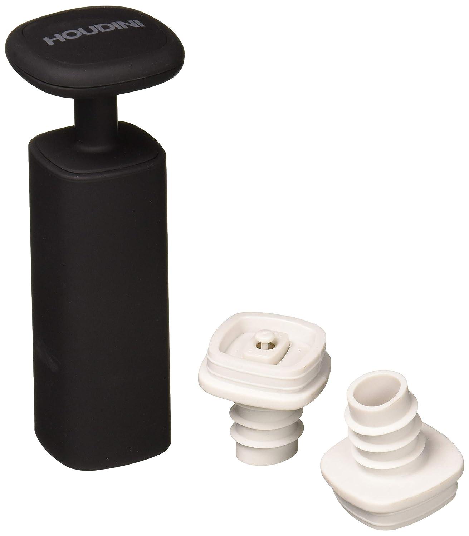 "Houdini H3-013001T Wine Vacuum Preserver, 6""x 4""x 7"", Black"