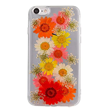 Amazon pretty flower case for iphone 7 tipfly iphone 8 daisy pretty flower case for iphone 7 tipfly iphone 8 daisy floral real pressed dry flowers mightylinksfo