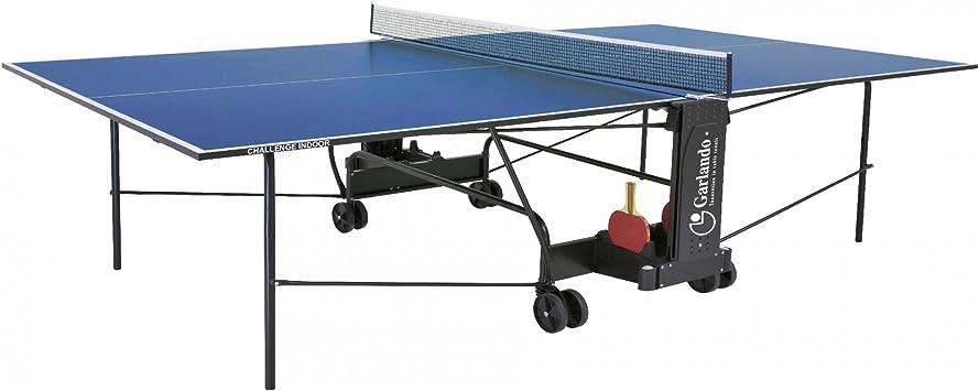 Garlando Mesa Ping Pong Challenge Indoor con Ruote per Interno ...