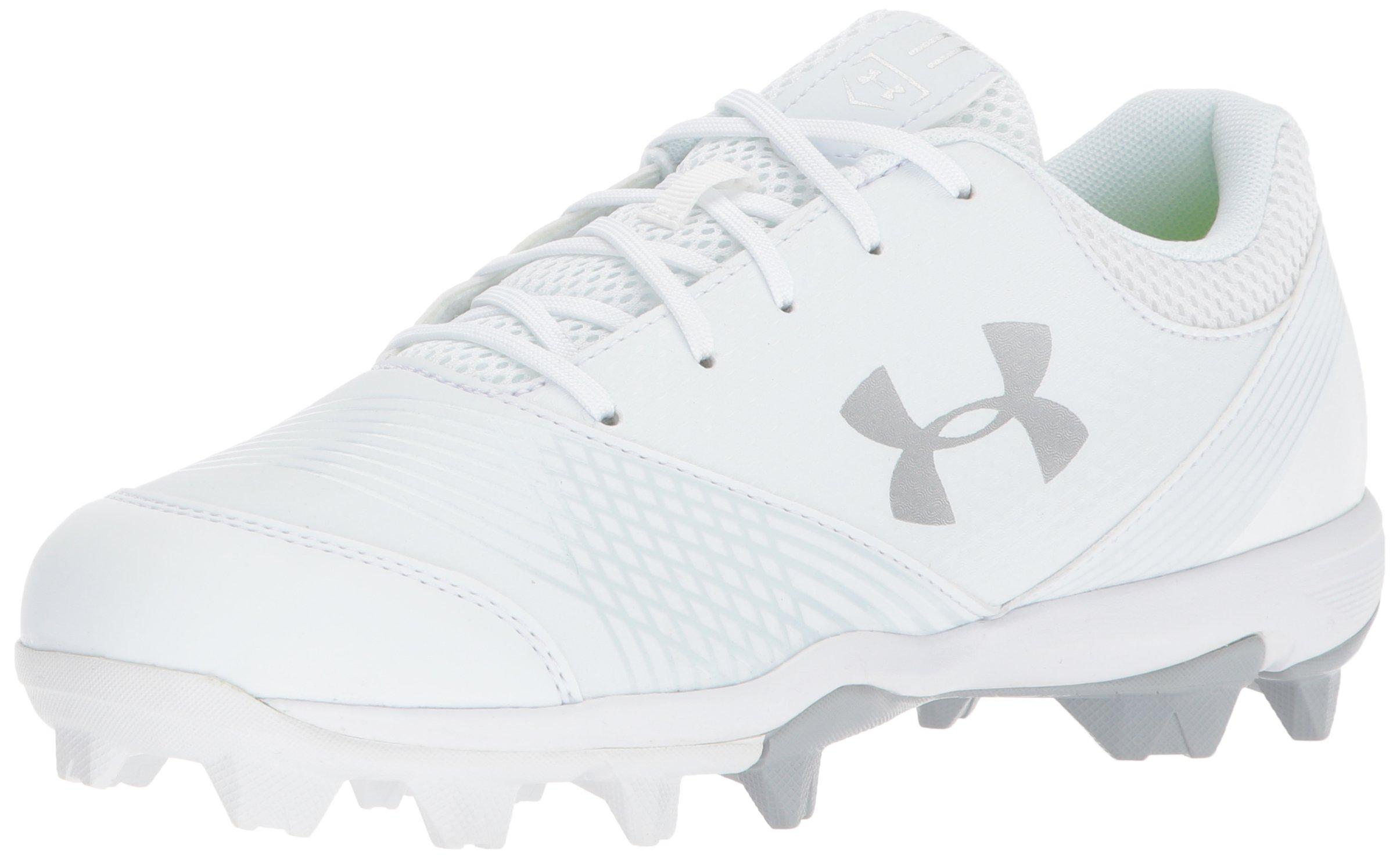 Under Armour Women's Glyde RM Softball Shoe, White (100)/White, 8