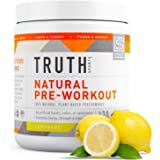 All Natural Pre Workout Powder- Plant Based, Keto & Vegan Friendly Preworkout - Energy, Focus & Performance - Boost Muscle Strength & Endurance- Truth Nutrition (30 Servings - Lemonade)