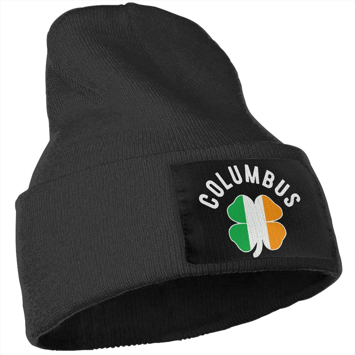 COLLJL-8 Men//Women Columbus Outdoor Fashion Knit Beanies Hat Soft Winter Skull Caps