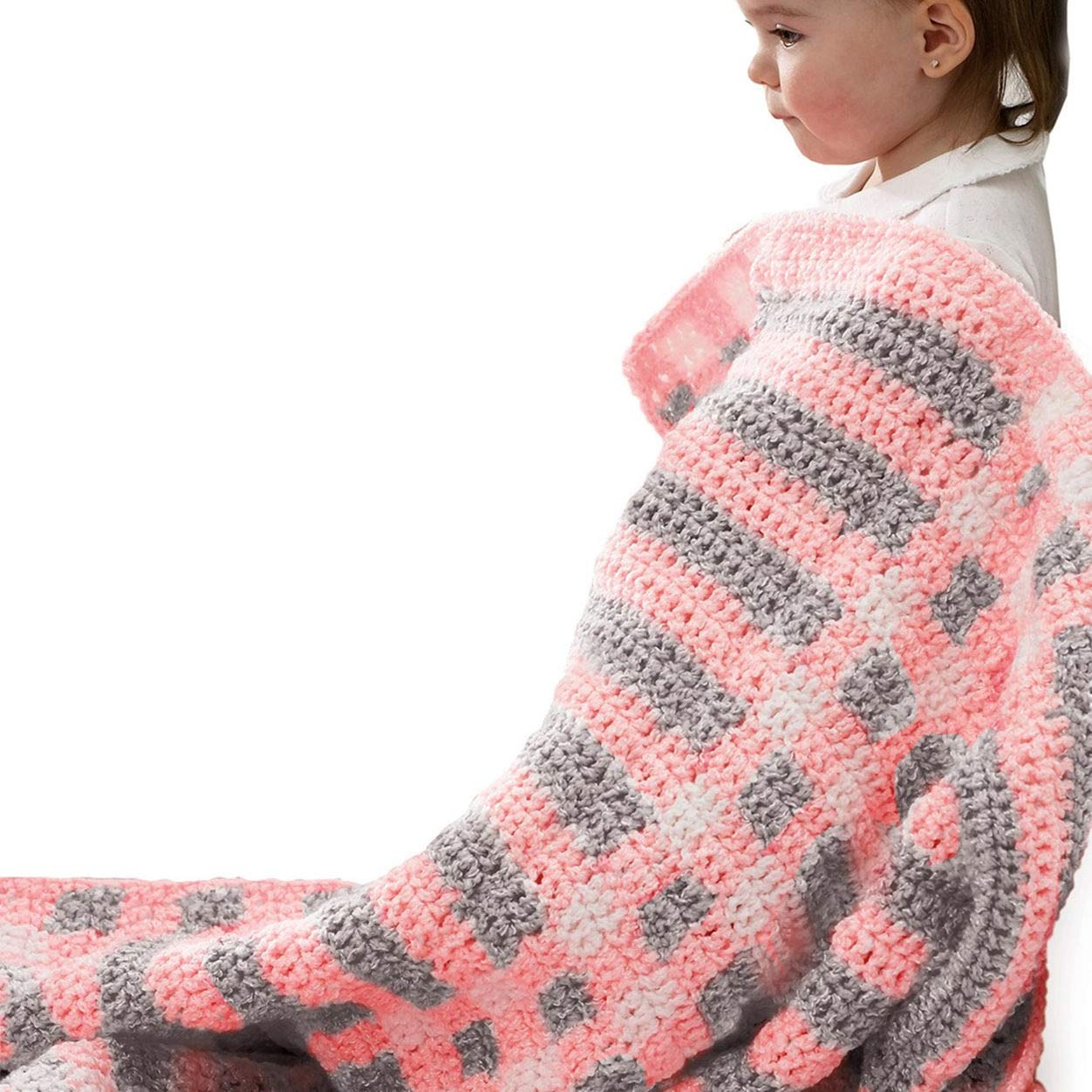 4.9 Ounce Solid Soft Blue Single Ball Bernat Baby Coordinates Yarn