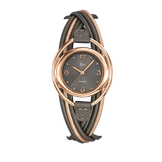 Go 698726 - Reloj de Pulsera Mujer, Cuero, Color Bicolor: Amazon.es: Relojes
