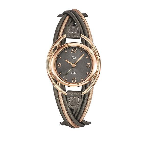 Go 698726 - Reloj de Pulsera Mujer, Cuero, Color Bicolor