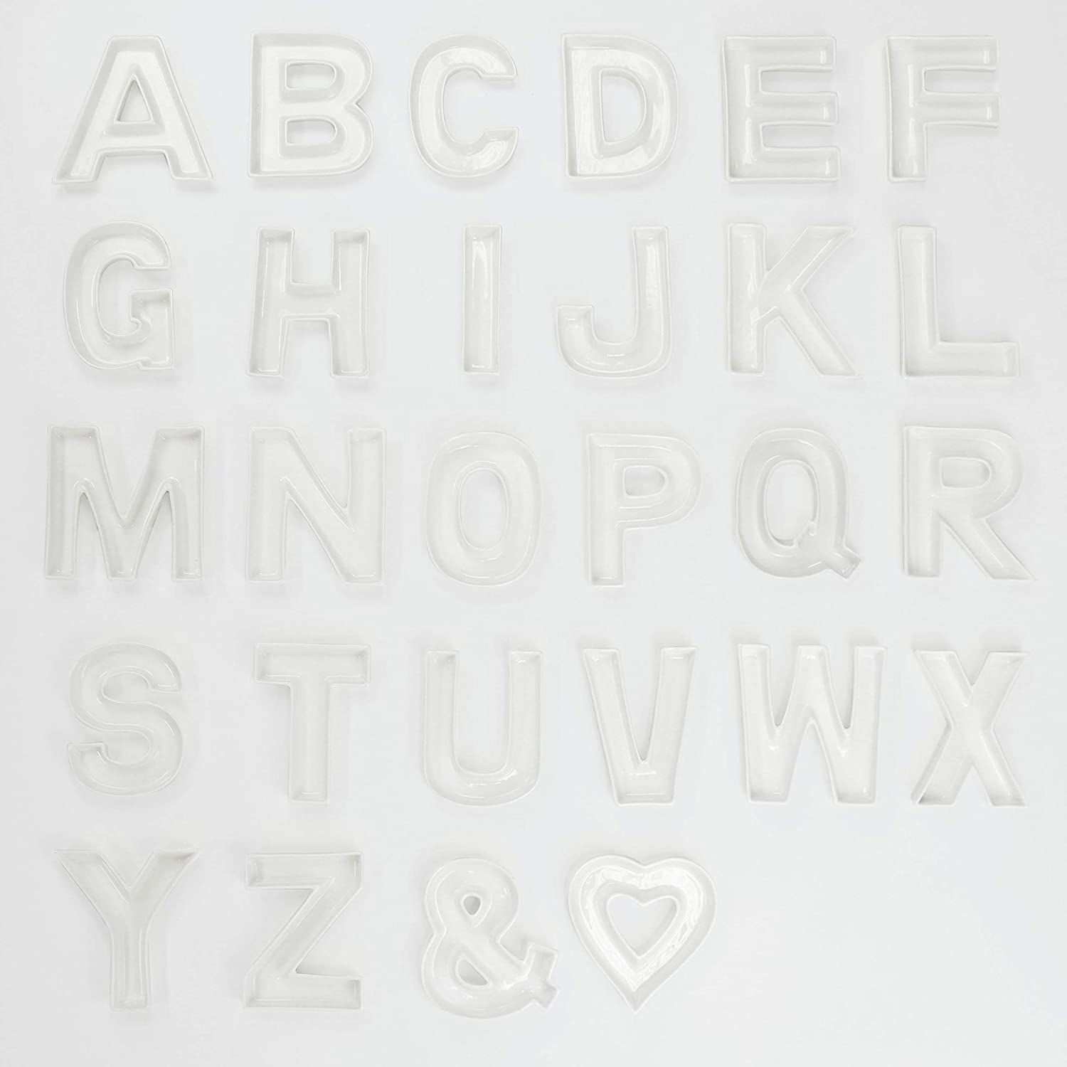 Letter: N Just Artifacts Baby Showers Anniversarys Decorative Dishes for Weddings 5.5inch White Ceramic Letter Dish Birthday Parties and Life Celebrations!
