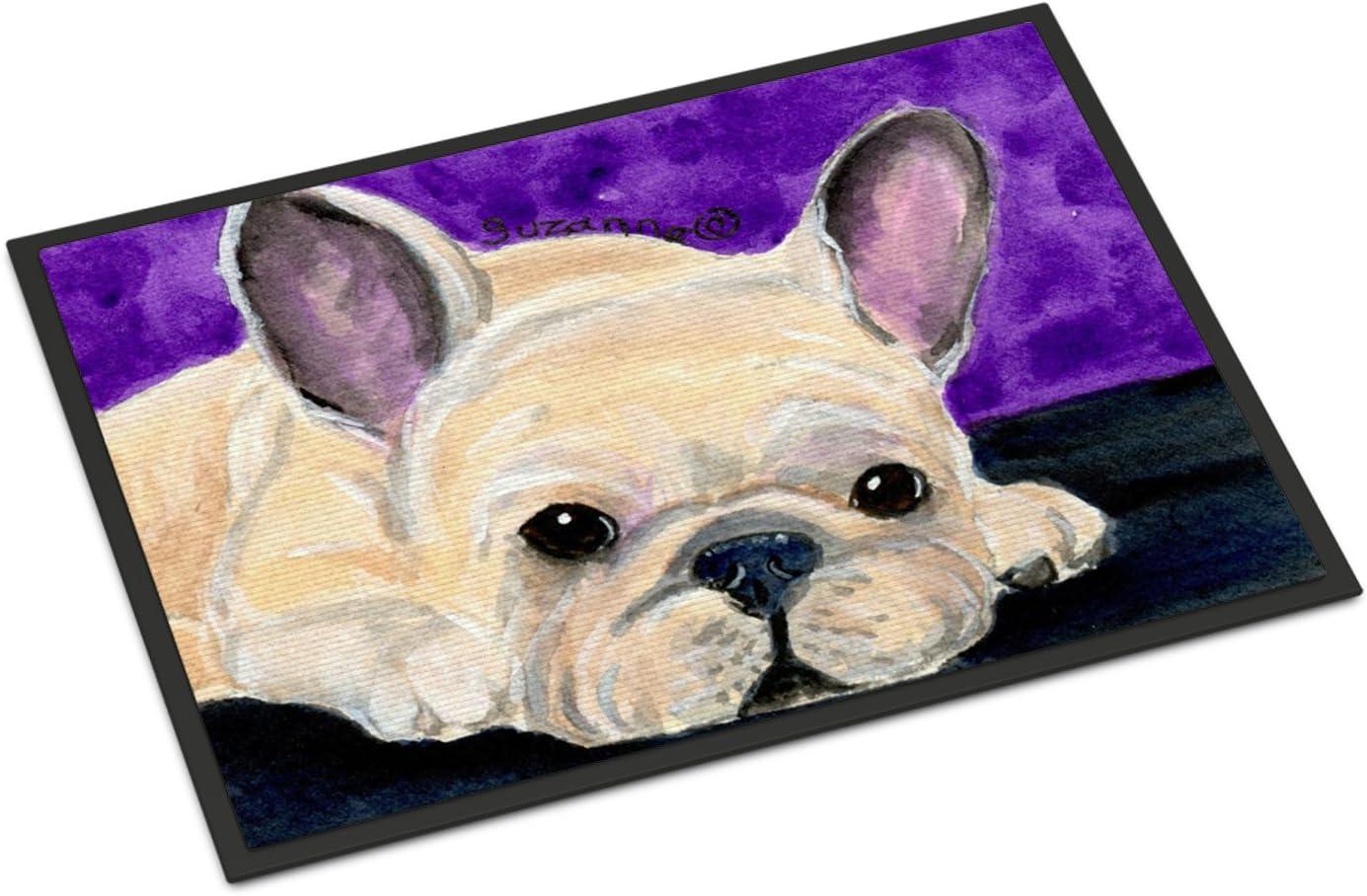 Caroline s Treasures SS8698JMAT French Bulldog Indoor or Outdoor Mat 24×36 Doormat, 24H X 36W, Multicolor