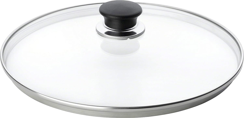 Black//Clear Ballarini 334//°F02.24/Glass Lid 24/cm Stainless Steel Lid and Knob 6/x 24.6/x 24.6/cm