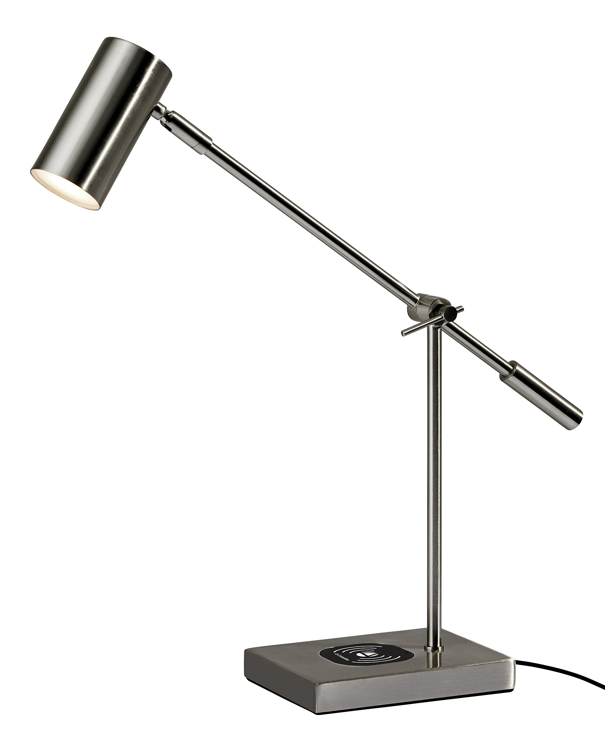 Adesso Collette Charge LED Desk Lamp, Silver