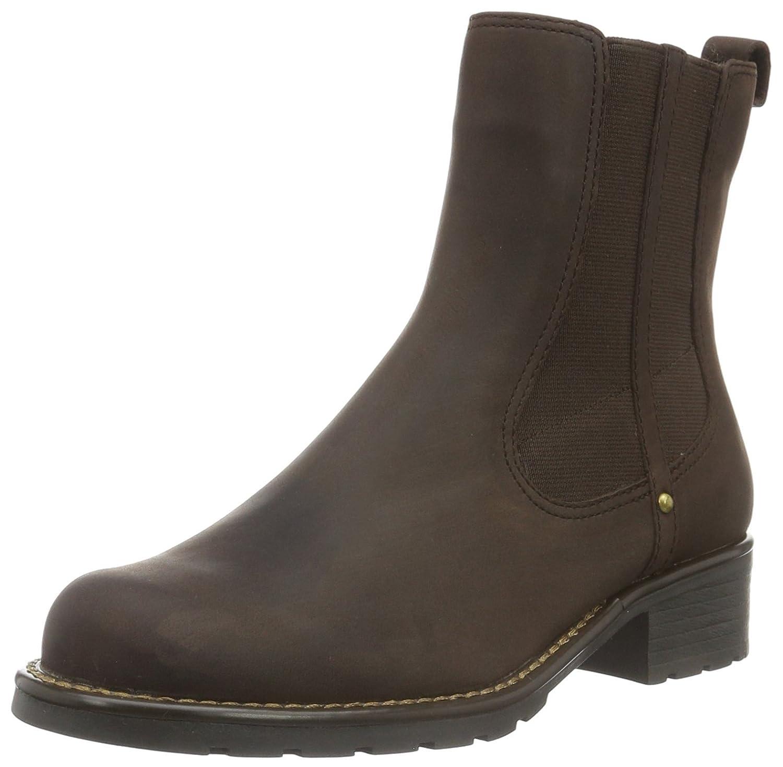 Clarks Orinoco Club - Chocolate Brown Leather Womens Boots