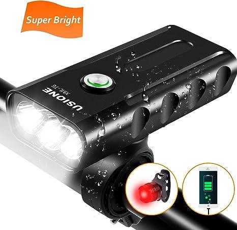 2in1 Luce torcia LED 2000 lumen+supporto impermeabile faro per bici bicicletta