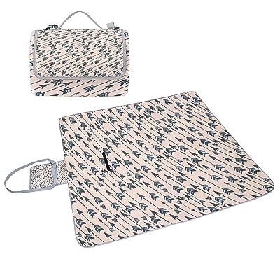 Coosun Arrow Couverture de pique-nique Sac pratique Tapis résistant aux moisissures et étanche Tapis de camping pour les pique-niques, les plages, randonnée, Voyage, Rving et sorties
