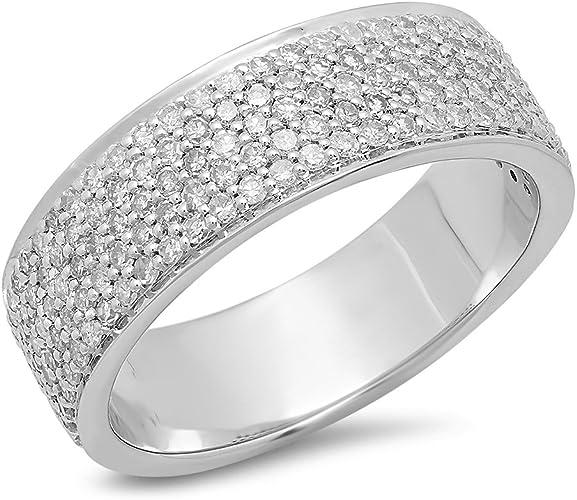 ctw Dazzlingrock Collection 0.12 Carat 10K Round Cut White Diamond Mens Fashion Anniversary Wedding Band Yellow Gold