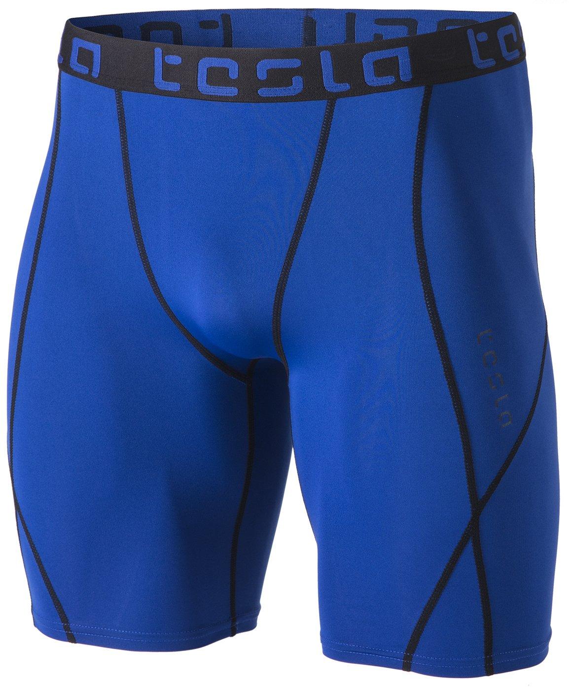 TSLA Men's Compression Shorts Baselayer Cool Dry