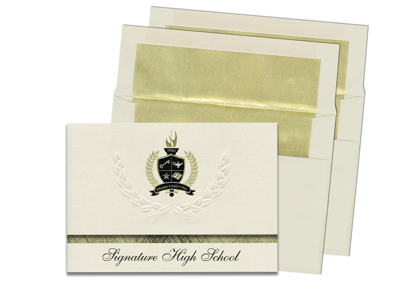 Signature-Announcements Todd Beamer High School (Federal Way, WA) Abschlussankündigungen, Abschlussankündigungen, Abschlussankündigungen, Präsidential-Stil, Grundpaket mit 25 Goldfarbenen und schwarzen metallischen Folienversiegelungen B0795SXZ75 | Zuverlässige Qualität  cbac2a
