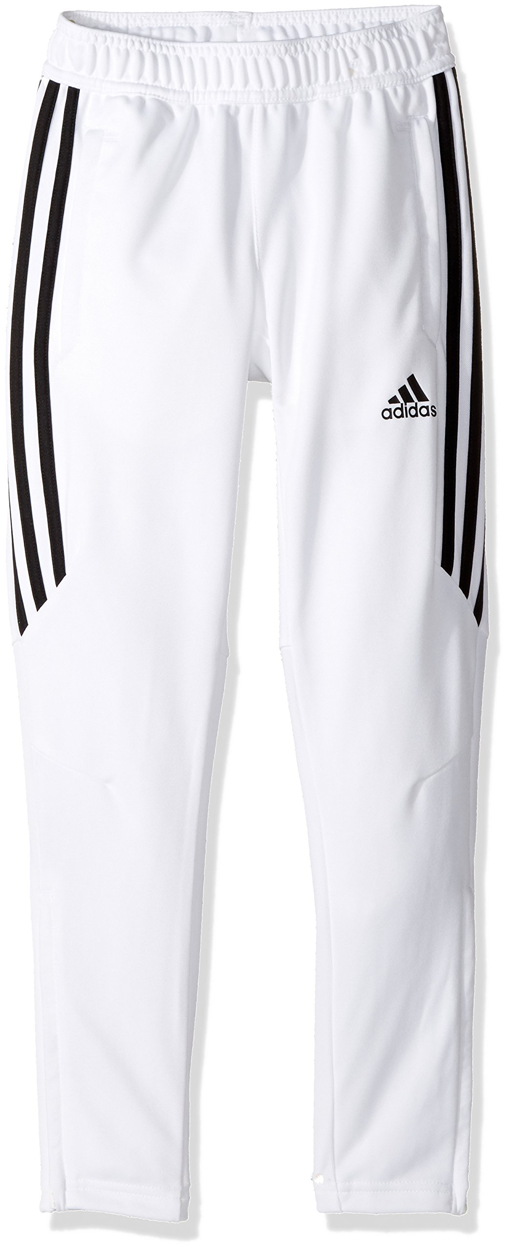 adidas Youth Soccer Tiro 17 Training Pants, White/Black, XX-Small