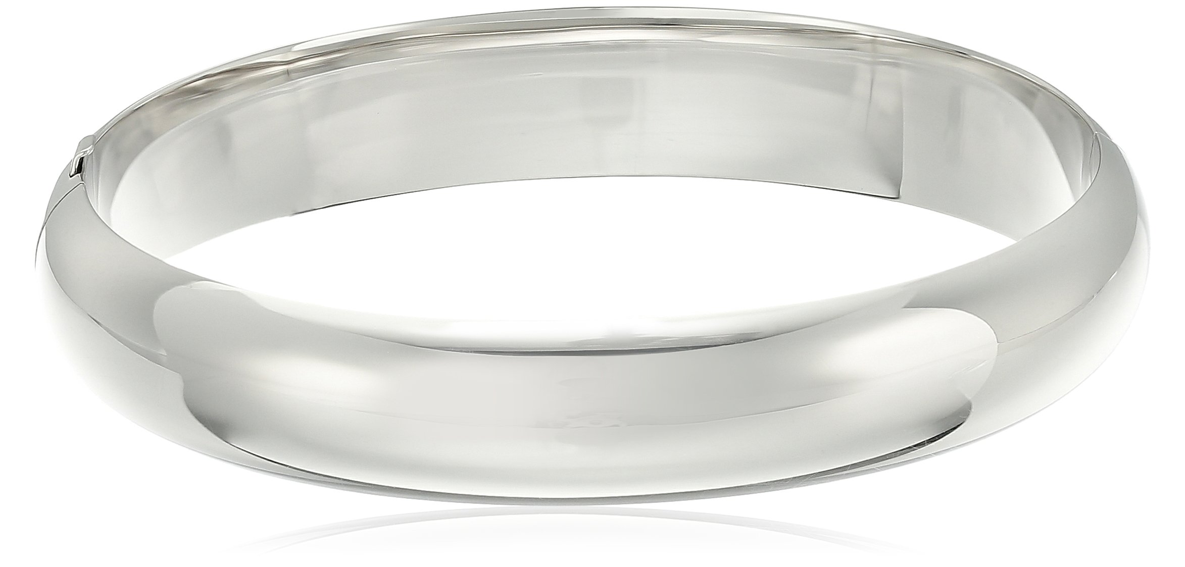 Sterling Silver Larger Wrist Guard and Hinge Bangle Bracelet