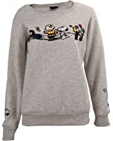 TOOGOO(R) Korean Casual Women Sweater Print Loose Fleece Pullover Sweatshirt Hoodies Tops - Gray